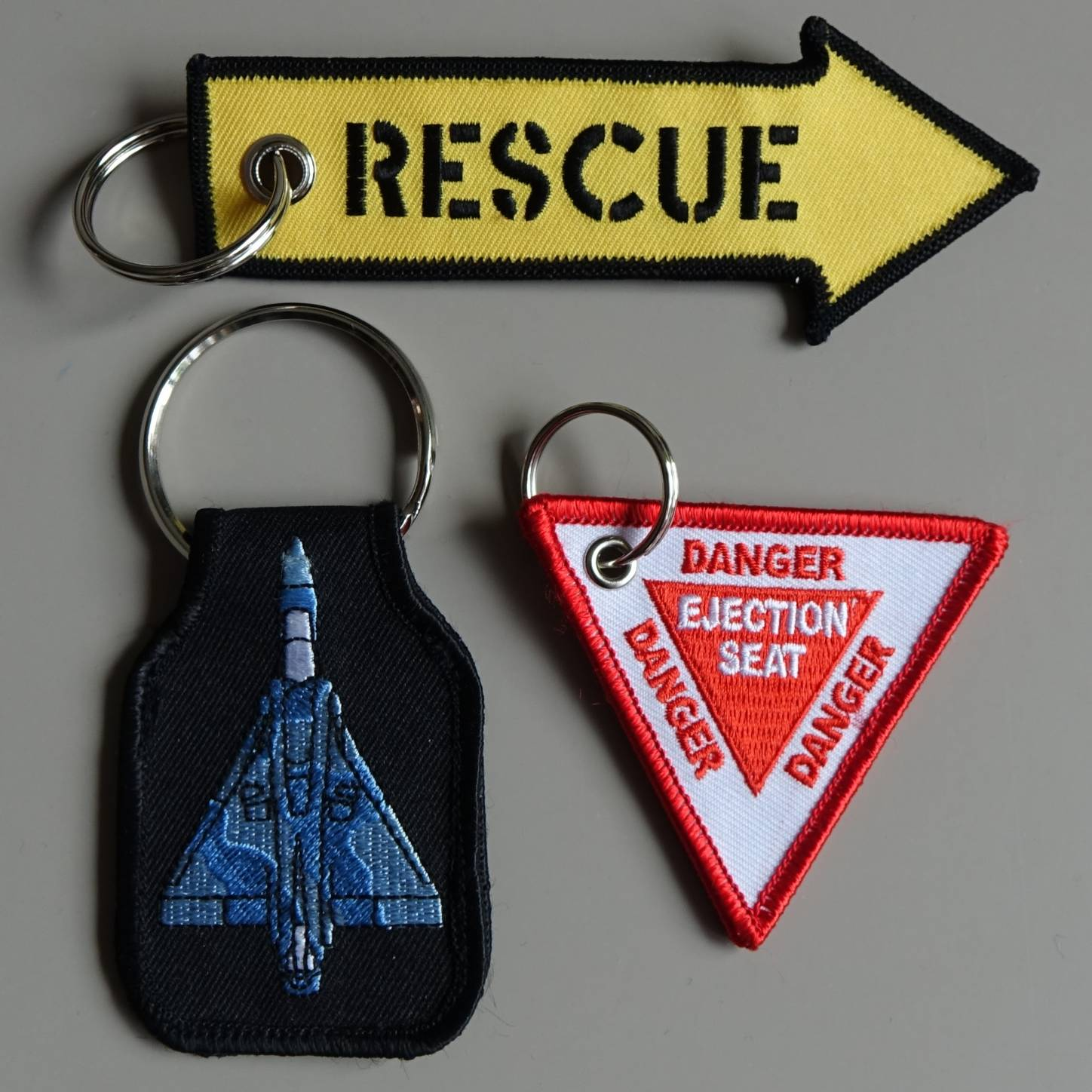 embroidered key chains